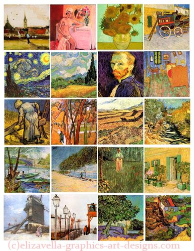 Vincent Van Gogh Art Paintings Collage Abstract Art Painting