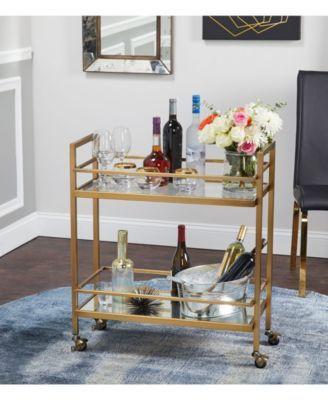 The Mezzanine Shoppe Manhattan Bar Cart - Gold