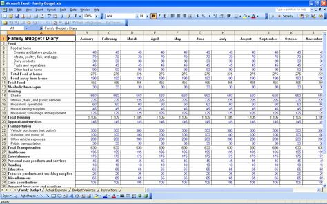 free personal budget spreadsheet excel best photos examples Home - budget spreadsheet template