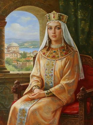 century medieval noblewoman - This is a Victorian Era rendition therefore it is suspect until validated from another more reliable source.