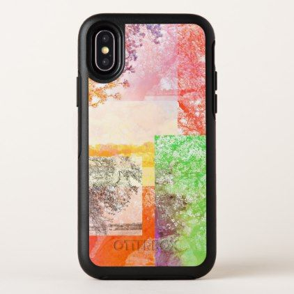 Colorful Abstract Tree Collage Otterbox Symmetry Iphone X Case