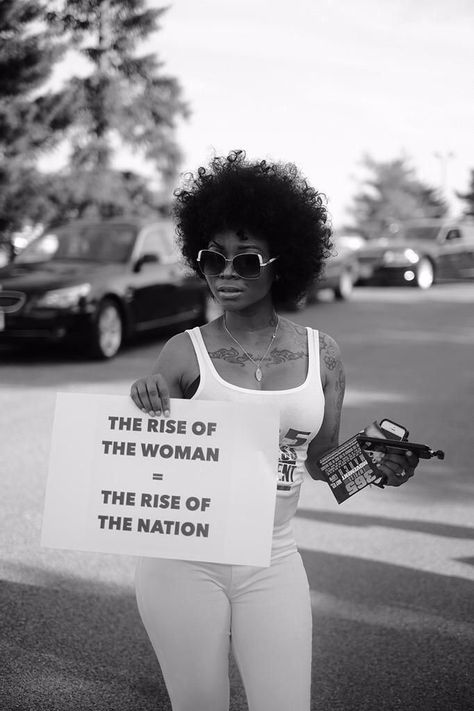 "be-blackstar:  hairofthemovement:  Photos from Baltimore photographer Devin Allen  ""the rise of the woman = the rise of the nation"""