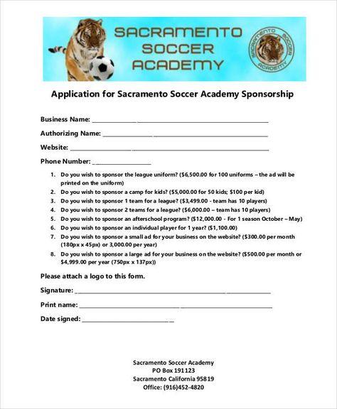 8+ Sponsorship Application Templates u2013 Free Sample, Example - athlete sponsorship contract template