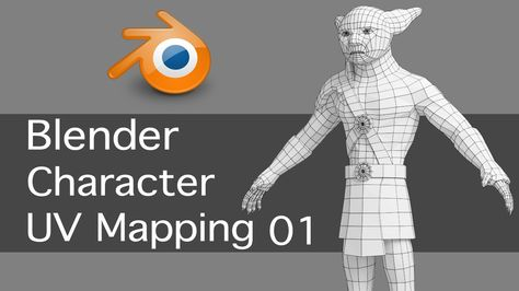 Blender Game Character UV Mapping 01