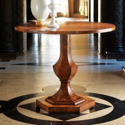 Modern History Home Pedestal End Table In 2020 End Tables Table