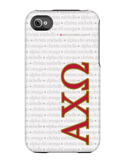 Hey AXO sistahs! Check out our new line of Alpha Chi Omega products-- lovin this iPhone case!