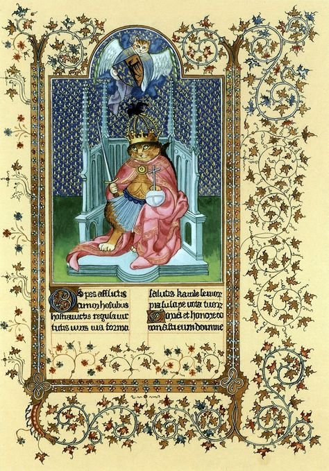 """Saint Charlemagne by Limbourg Brothers (Cats Medieval)"" par Susan Herbert"