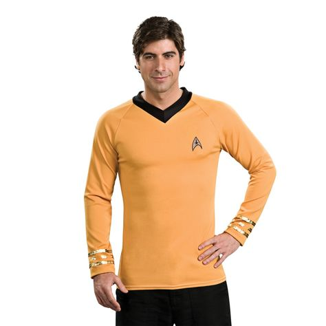 Star Trek Classic Captain Kirk Gold Shirt Deluxe Costume
