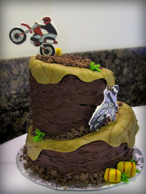 motocross cake - change to bicycle jump/tricks for double dare