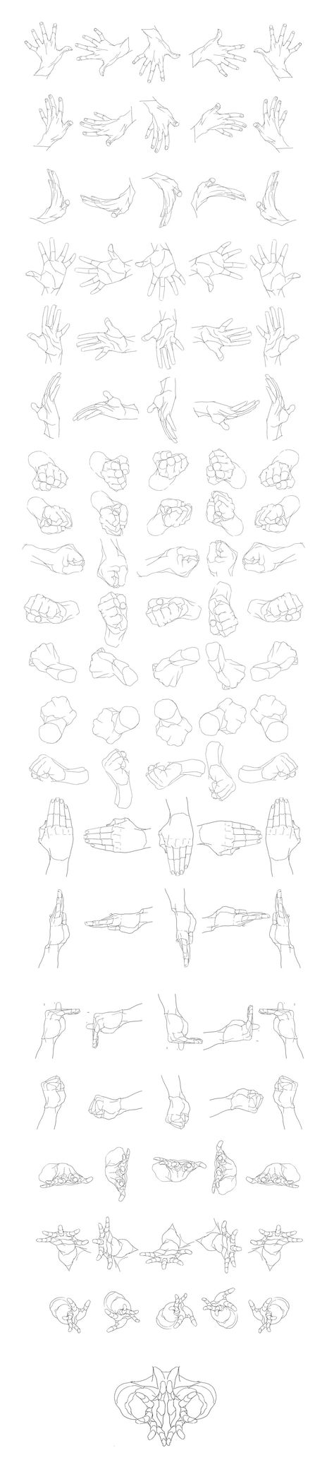 """""""Hands Movement/Rotation"""" Reference Sheet Art Drawing Tips 