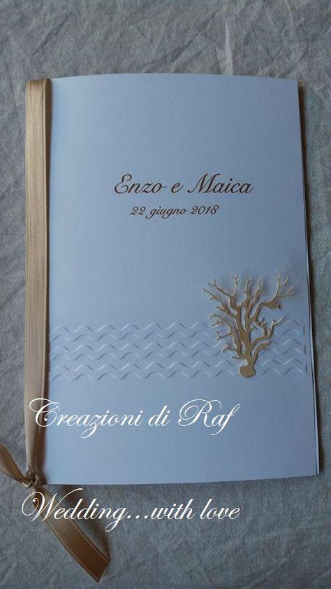 Copertina Libretto Messa Personalizzata A Tema Mare Con Onde Marine In Rilievo E Corallo Applicato In Rilievo Copertina Tema