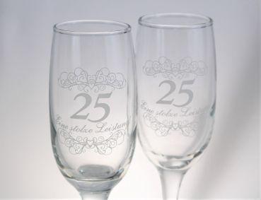 2 Sektglaser Zur Silberhochzeit Silberhochzeit Silberne