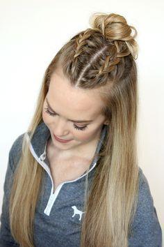 15 Estilos De Trenzas Ideales Para Dejarte Crecer El Fleco Serán Tu Salvación Peinados Simples Para Cabello Largo Peinados Deportivos Peinados Con Trenzas Cocidas