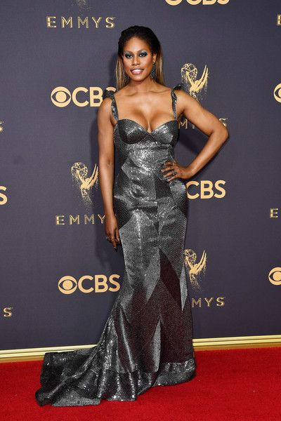 Actor Laverne Cox attends the 69th Annual Primetime Emmy Awards at Microsoft Theater.