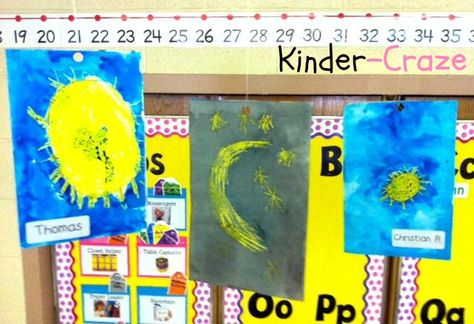 Day/Night classroom paintings