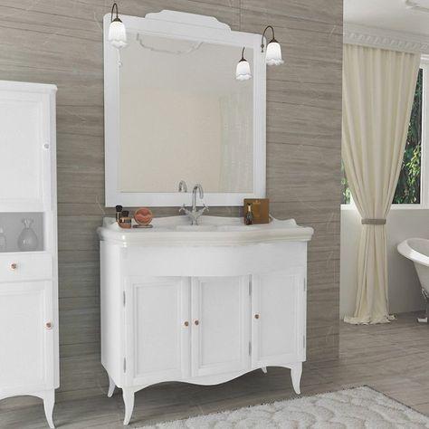 Mobili Bagno Decape Prezzi.Mobile Style Classico Decape 3 Ante Bianco Legno Con Specchio