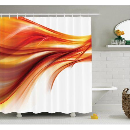 Abstract Home Decor Shower Curtain Set Modern Contemporary