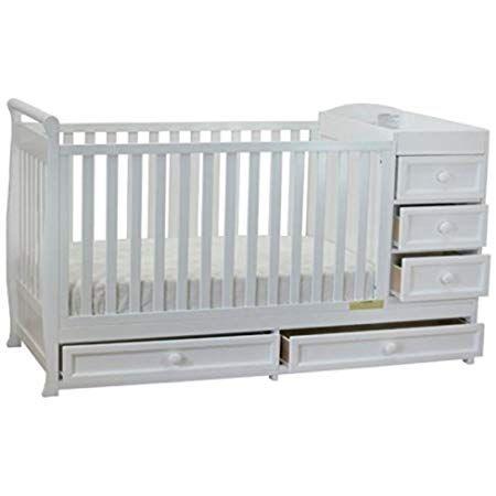 Amazon Com Dream On Me Casco 3 In 1 Mini Crib And Dressing Table Combo White Nursery Furniture Sets Baby Cribs Convertible Crib Baby Furniture
