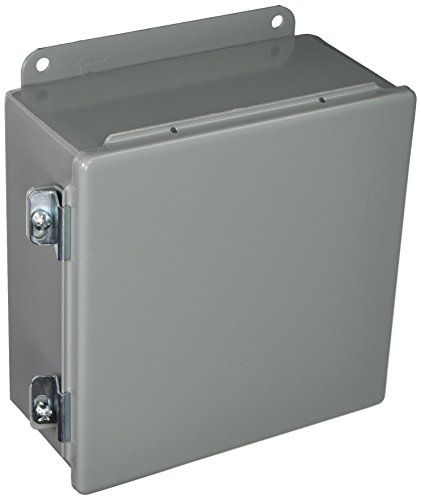 Hoffman A808ch J Box Nema 12 Hinged Cover Steel 8 X 8 X 4 Gray Hinges Steel Stainless Steel Hose