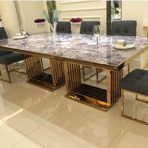 Source 2018 New Style Luxury Marble Dining Table For Restaurant