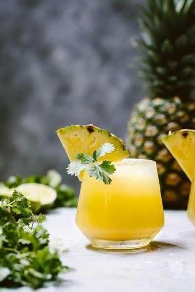 Spicy Pineapple Jalapeno Mezcalita - Pretty Cocktails To Make This Mother's Day - Photos