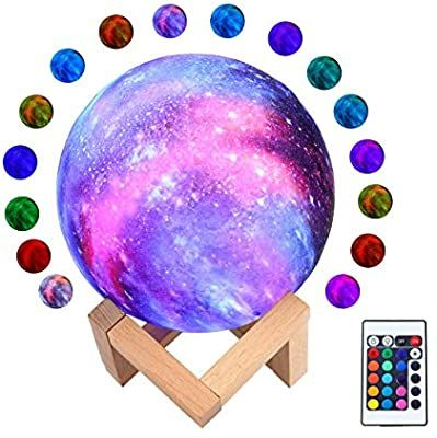 Amazon Com Moon Lamp With Stand Cozycabin 16 Colors Led Moon Light With Touch Remote Control Usb Rechargeable 3d In 2020 Led Color Moon Light Lamp Birthday Gifts