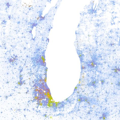 The Racial Dot Map One Dot Per Person For The Entire US - Google maps entire us