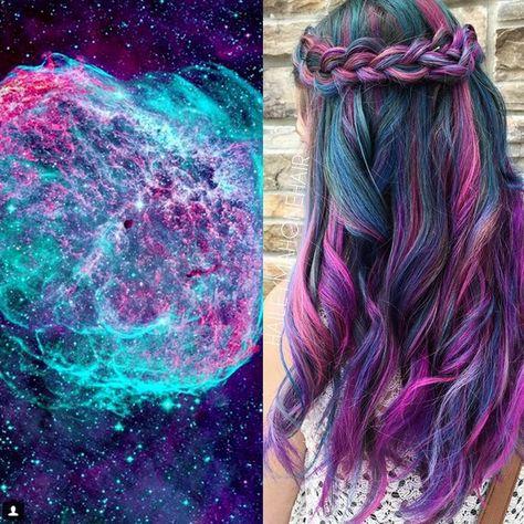 El 'pelo color galaxia' ya es tendencia y es algo tan increíble como esto — cribeo