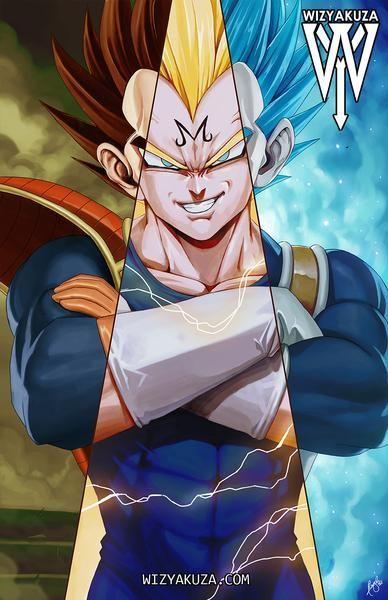 All Hail The Prince Triple Split Anime Dragon Ball Z Dragon Ball