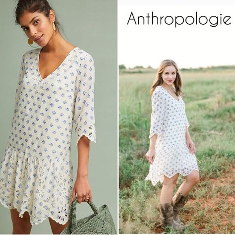 dec63f4e8511 BNWT ANTHROPOLOGIE Meadow Rue Eyelet Tunic Dress BNWT ANTHROPOLOGIE Meadow  Rue Eyelet Tunic Dress Size XS The dress is very beautiful and cute.