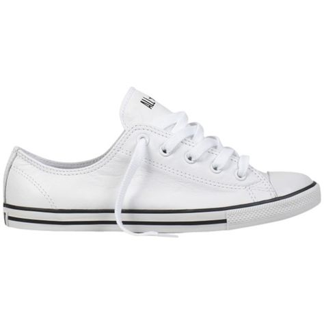 Converse Chuck Taylor All Star Dainty Leather Trainers White 86