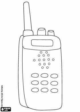 Walkie Talkie A Communication System Coloring Page With Images