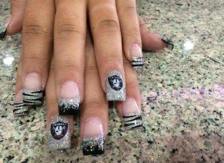 Nails acrylic black silver 60 ideas