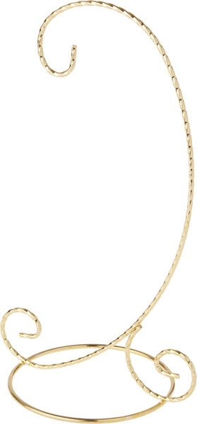 Plymor Simple Gold Ornament Stand 6 H x 2.625 W x 2.625 D
