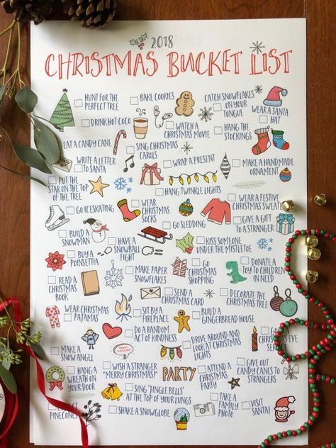 $15!! Christmas Bucket Lists digital downloads - so cute for activities all seas...  #activities #Bucket #Christmas #Cute #digital #downloads #lists #seas
