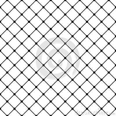 Square Grid Vector Seamless Pattern Abstract Geometric Black And White Texture With Thin Diagonal Cross Lines Rhombuses In 2020 Seamless Patterns Grid Vector Pattern