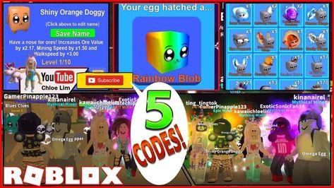 Roblox Mining Simulator Gameplay 5 New Codes Shinies Update