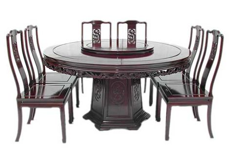 chinese dragon design round dining table with 8 chairs chinese furniture pinterest dragon design round dining table and chinese furniture