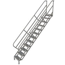 Ladders Stairways Stairs 12 Step Industrial Access Stairway Ladder Grip Strut Wiss112242 B593632 Globalindustrial Com Steel Stairs Stairs Ladder