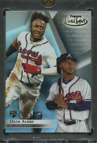 Details About 2018 Topps Gold Label Class 2 Blue 10 Ozzie Albies
