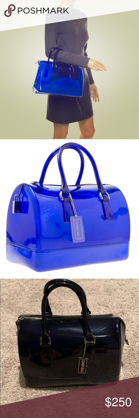 clear dark blue furla candybag satchel satchel bags jelly purse pinterest