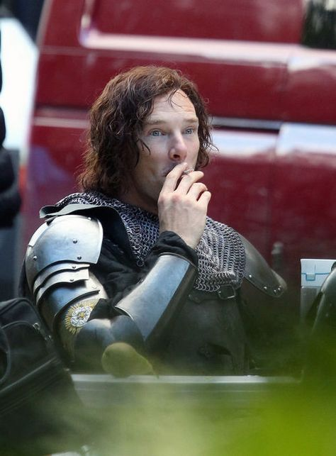 "Benedict Cumberbatch on set of BBC2 production of ""The Hollow Crown: The War of the Roses"" on September 24, 2014"