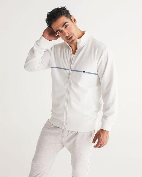 The Split  Men's Track Jacket - white base color / XXL
