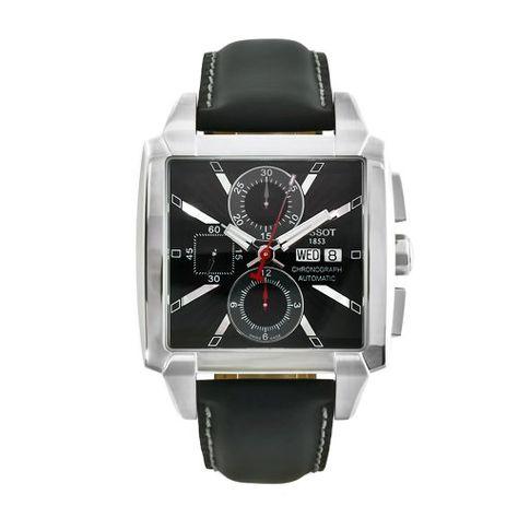Tissot Men's T0055141606100 Quadrato Black Leather Automatic Chronograph Watch Tissot http://www.amazon.com/dp/B0026S91IQ/ref=cm_sw_r_pi_dp_U0xAub0BJY95N
