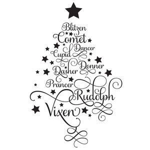 Reindeer Names Tree Cricut Christmas Ideas Reindeer Names Christmas Svg Files