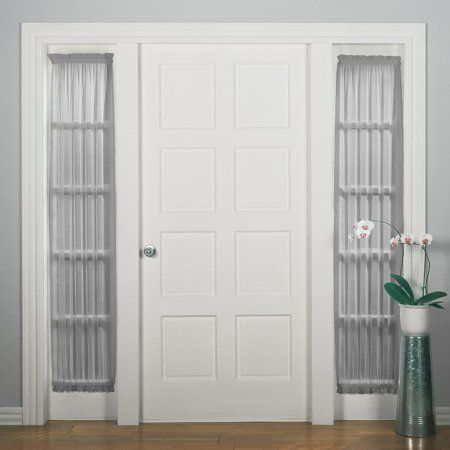 Home Sidelight Curtains White Paneling Panel Curtains