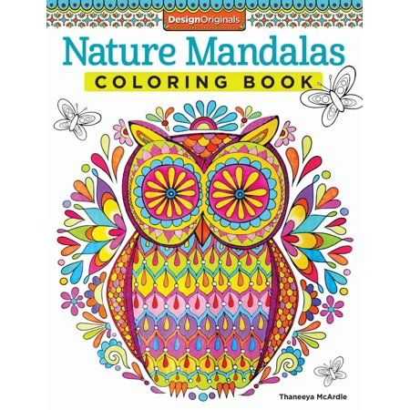 Nature Mandalas Coloring Book Walmart Com Designs Coloring Books Coloring Books Nature Mandala