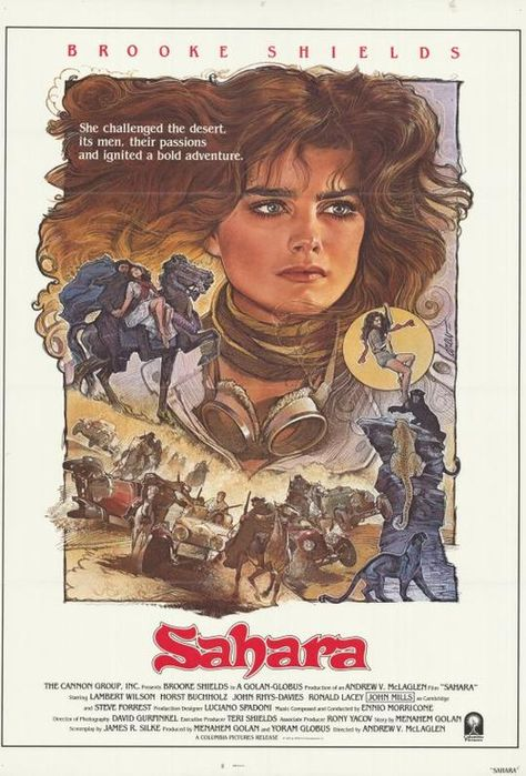 Sahara Movie Poster (1984) | Just Movies | Pinterest | Movies, Movie posters and Poster