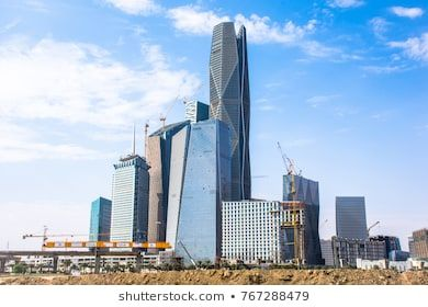Riyadh Saudi Arabia Ksa December 02 2017 New Buildings Being Constructed In The New King Abdullah Financial District In Riyadh