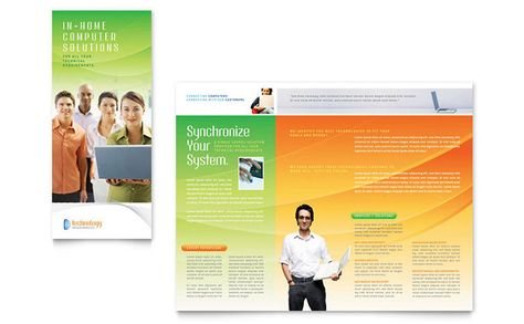 Computer and IT Services Brochure Design Template by StockLayouts - services brochure